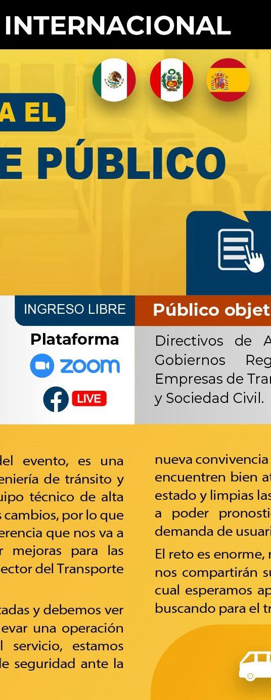 2da Conferencia Mejoras para el Transporte Público Post-Covid